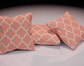 Contemporary colourful cushion design 10 3D asset