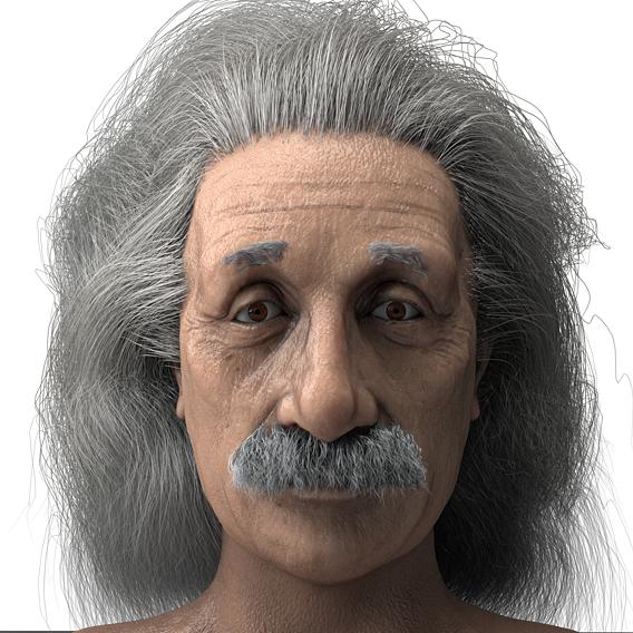 Albert Einstein 3D Realistic Character Model