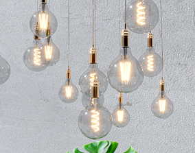 3D models of decorative light bulbs