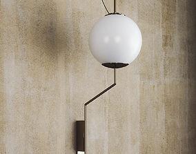 Brass Wall Lamp 3D model lights