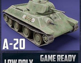 3D asset rigged A-20 USSR Toon Tank -Big-