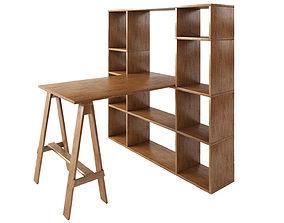 3D asset Sideboard Wood furniture model