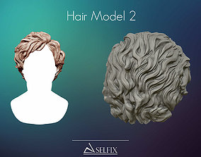Hairstyle mode 02 Ready to 3D print