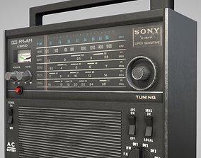 3D asset Retro radio Sony TFM-2000F