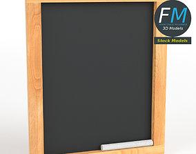 Wood chalkboard frame 3D