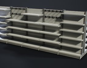 10 Convenience Store Shelves 3D model