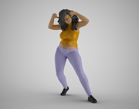 Woman Joining Dans 3D print model