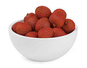 3D model Bowl of Lychees