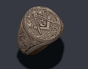 3D printable model Mason ring
