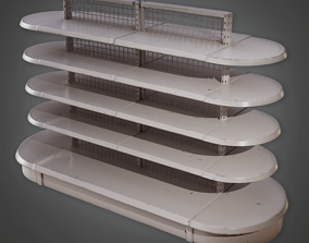 3D asset Commerical Shelf 01 - SAM - PBR Game Ready