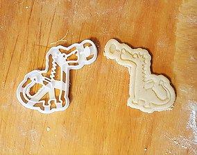Dragon cookie cutter 3D print model