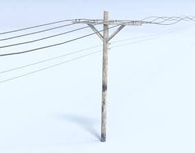 3D model Telephone Poll