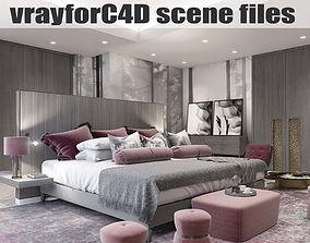 VRayforC4D Scene files - Master Bedroom 3D