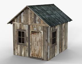 Wooden Cabin 3D asset