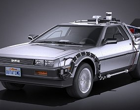 3D DeLorean DMC-12 Back To The Future episode 1