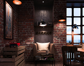 Modern Coffee shop 3D