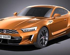 LowPoly Generic Muscle Car v2 2018 3D model