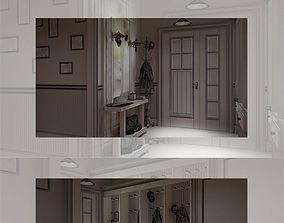 Hall 3D model house