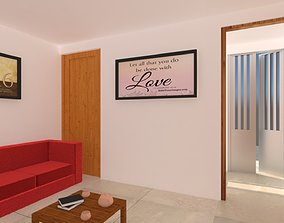 3D Row House Interior