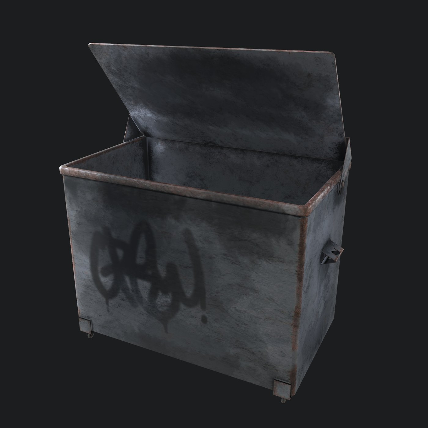 Dirty Trash Container