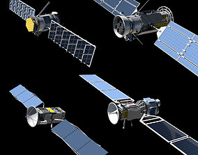 4 Satellites PLUS Build your own Satellite kit 3D asset
