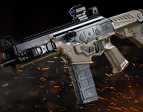 game-ready PMS naoK56 Assault Rifle - Model and Textures