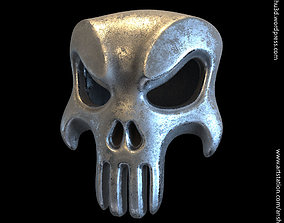 The punisher skull vol1 pendant 3D printable model
