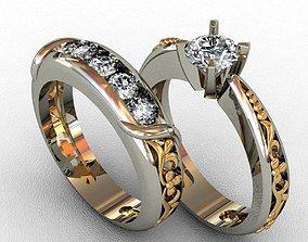 rings jewelry Diamond Ring 3D print model