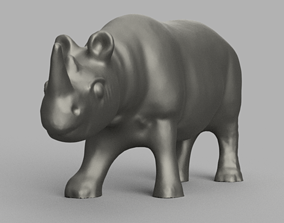 savane 3D printable model Rhinoceros