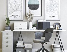 Office workplace 47 3D ikea