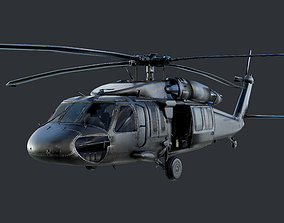 GAME READY Sikorsky UH60 Black Hawk Helicopter 3D model