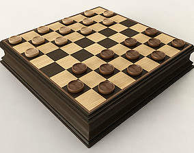 3D model wood Checkers