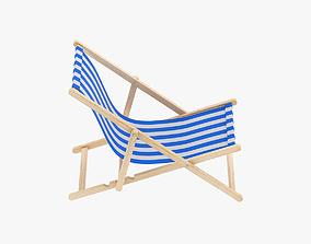 fabric Beach Chair 3D