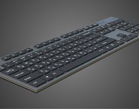 Slim keyboard 3D asset