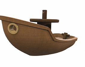 3D model Free wooden ship toy