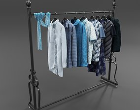 3D model Set of Casual Clothes on a Hanger