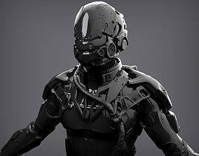 Futuristic Character 3D model