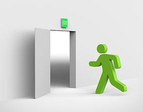 emergency exit escape 3D