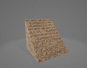 3D asset Brick Stairs 12 steps