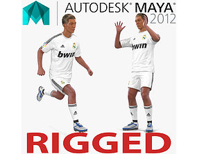 Soccer Player Real Madrid Rigged 2 for Maya 3D