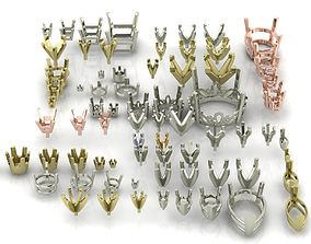 A Package Of 75 Rings Heads All Sizes All Shapes 3D 1