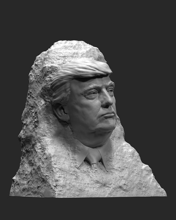Trump in the rock 1 3D print model