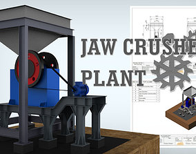 3D model Jaw Crusher Plant