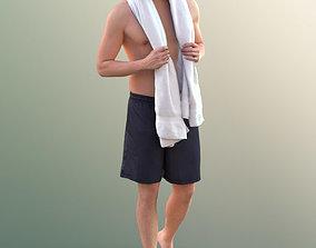 3D 10377 Dan - Young Man In Bermuda Shorts With Towel