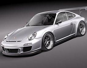 Porsche 911 GT3 Cup racing 2011 3D Model