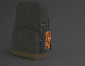 3D asset Backpack Orange and Black