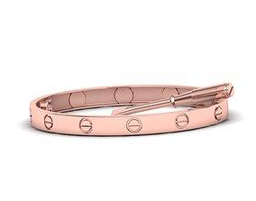 3D printable model Hollowed Oval Classic Woman bracelet 1