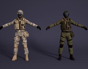 3D model Anti-terrorist