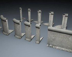3D model Berlin Wall 2nd gen Element