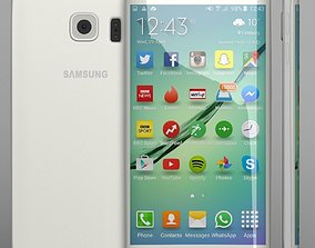 Samsung Galaxy S6 Edge white 3D
